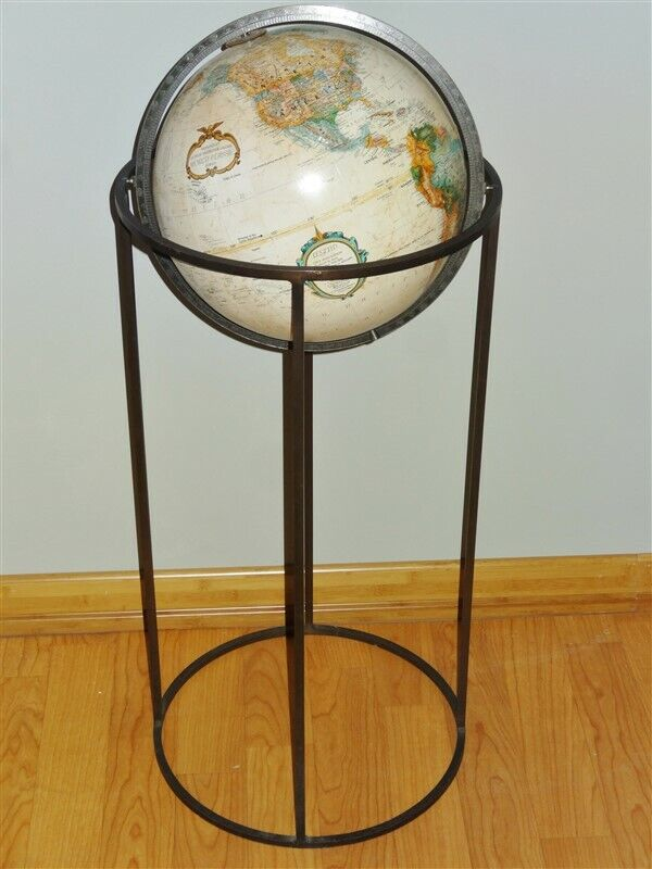 "Vintage Paul McCobb WORLD GLOBE Replogle 12"" Floor Globe"