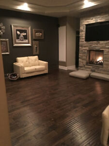 400 square feet of Expresso Brown Bevelled Hard Wood floors