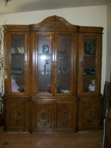 Large Wood China Cabinet Downsizing