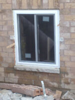 basement side entrance and cutting windows