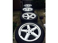 "£240 ONO! - 17"" BMW, AC SCHNITZER alloys with very good tyres"