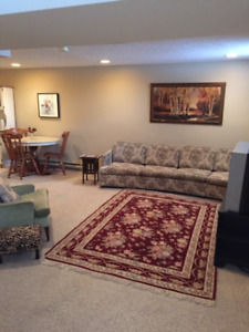 Furnished Basement Suite in Greystone Heights