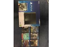PS4 500GB jet black console with Destiny 2 and assortment of games