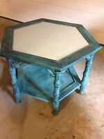 Distressed Blue Refinished Table