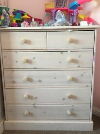 Children's drawers and wardrobe for sale