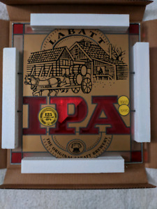 Extremely Rare 125 Anniversary Labbat IPA Stained Glass Panel