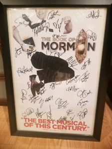 The book of mormon autograph poster