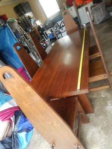 Solid Wood 6 Seat Table