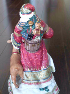 Musical Ceramic Santa and Reindeer Strathcona County Edmonton Area image 2