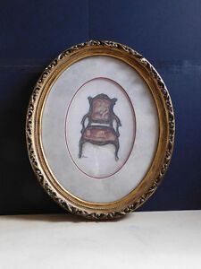 Decorative Picture in Oval Frame