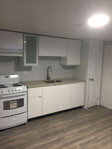 Renovated one basement apartment 416-398-5858