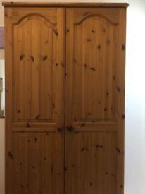 Pine single wardrobe