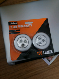 LED push lights.