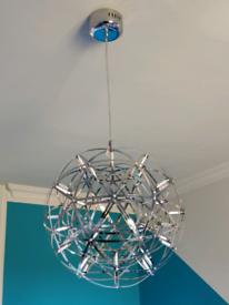 Designer Stainless steel LED Starburst Ceiling light