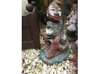 Large vintage garden gnome
