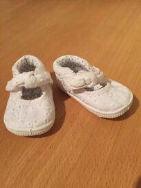 Next Canvas Shoes Size 0 - White