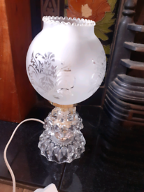 Small Vintage Glass Table Lamp