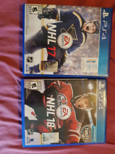 PS4 nhl 17 and 18