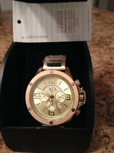 ARMANI EXCHANGE GOLD WATCH AX1504