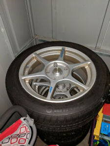 Snow Tires and Rims - 205/50/16, 5x120 bolt pattern