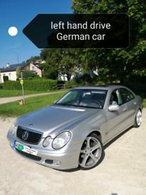Left hand drive lhd Mercedes Benz E 220 CDI Diesel