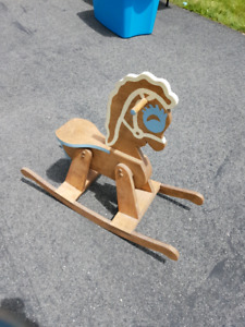 Children's wooden rocking horse