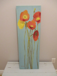 Canvas wall art - flowers