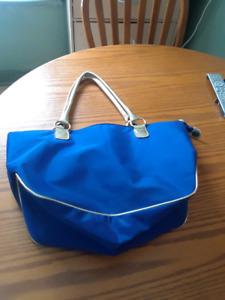 Royal.blue tote bag