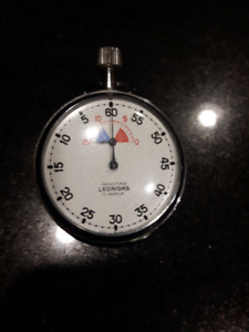 Vintage Heuer Leonidas 7 jewel Yacht-Timer Yachting stop watch