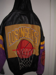 L.A.Lakers Leather Basketball Jacket.