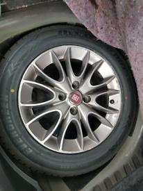 4 × Fiat punto 2012 evo 199 alloys wheels rims with tyres