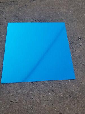 12x12 Blue .025 Color Anodized Aluminum Sheet Metal 22 Gauge Cnc Plate