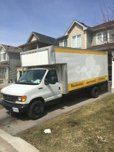 2003 Ford E450 17 FT Box Truck For Sale ! Low KMS