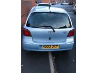 toyota yaris t spirit 998cc 5dr in blue with 85k mileage and tax & mot look