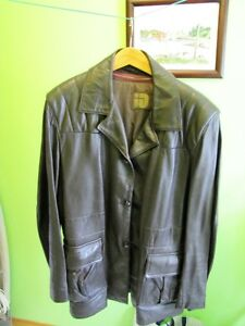 Leather Coat with Zip-out lining.