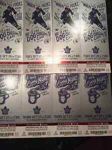 4 FACE VALUE LEAFS VS.LIGHTNING AND LEAFS VS PANTHERS LOWERBOWL