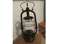 1930s French railway lamp with original features