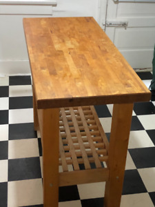Solid wood butcher block table/island