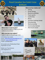 FREE youth program! Sea Cadets is recruiting in North Bay