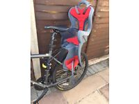 Child bike seat -- used twice. Excellent condition