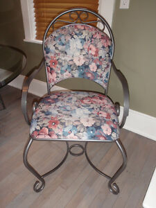 Glass & Metal Dining Set (4 chairs)