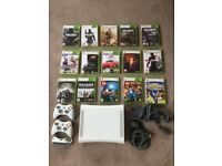 Xbox 360 Games Console and 10 games