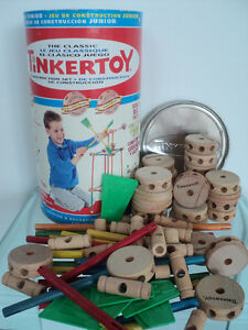 2 VINTAGE HASBRO THE CLASSIC TINKERTOY CONSTRUCTION SETS Cornwall Ontario image 2