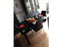 "Dining table &4 chairs(SOLD) table ( width 36"" length55""height 29"") £155 or nearest offer"
