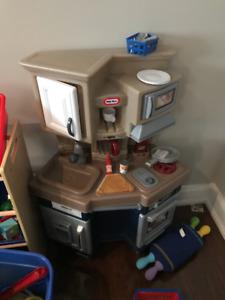 Kids Kitchen Toys - Kitchen/Cash Register /Buggy