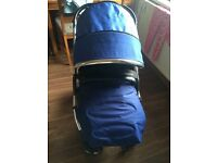 Royal blue oyster pram