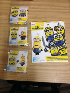 Perler Beads Minion Kits + Pattern Book All NIP