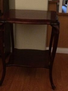 small cherry wood side table