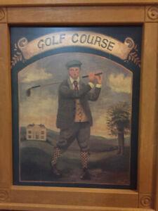 Vintage Golf Print