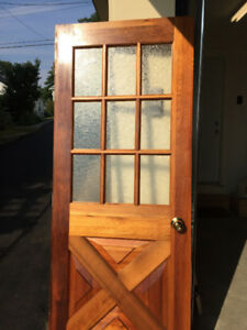 Interior Wood & Glass Panel Door